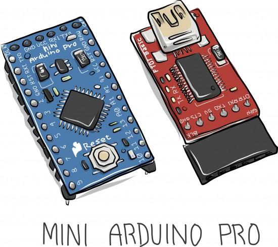 Mini Arduino Pro sketch by Carla Diana